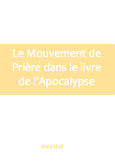Le mouvement de priere dans le livre de l'Apocalypse