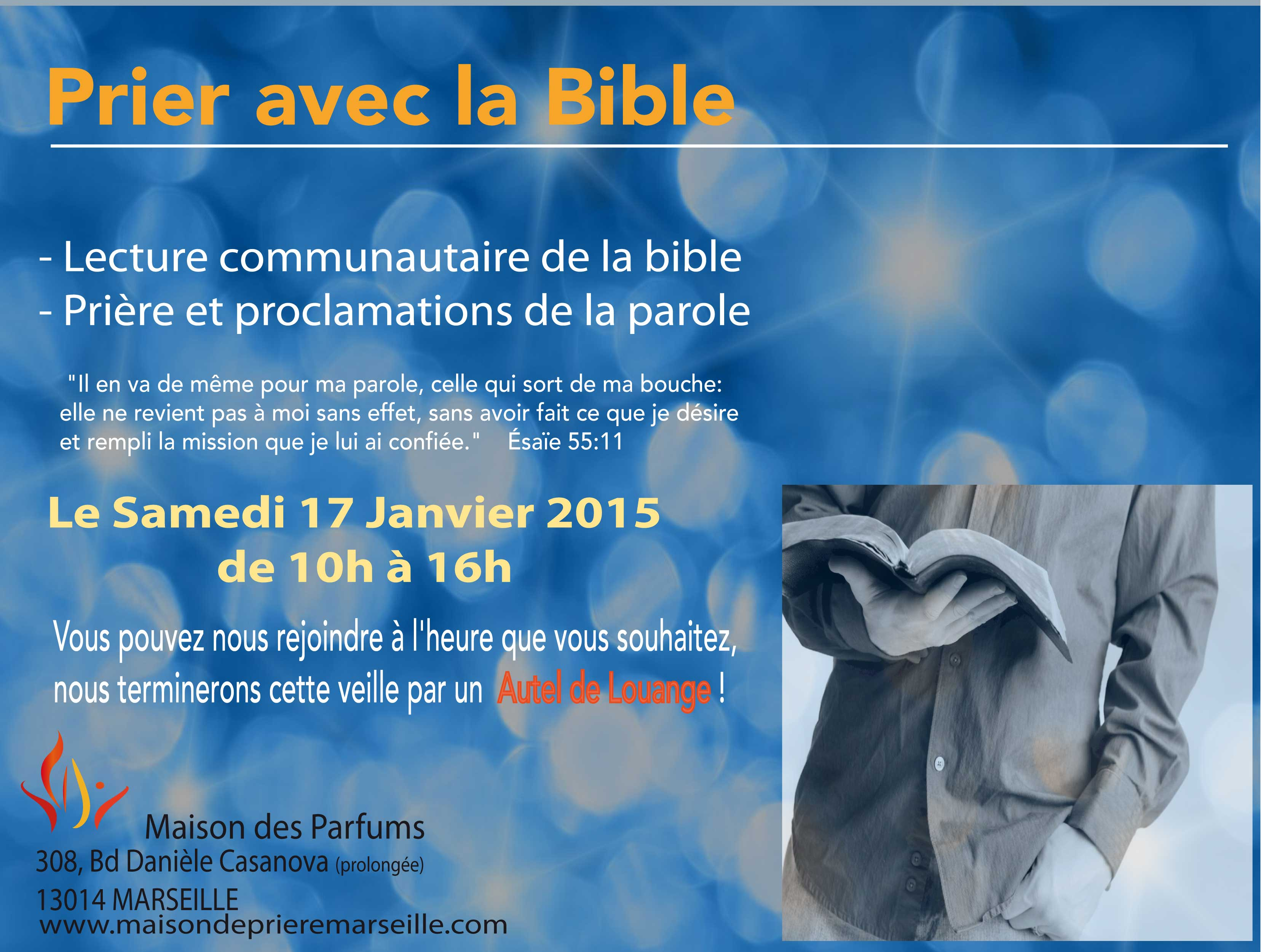 Prier avec la bible Janvier 2015