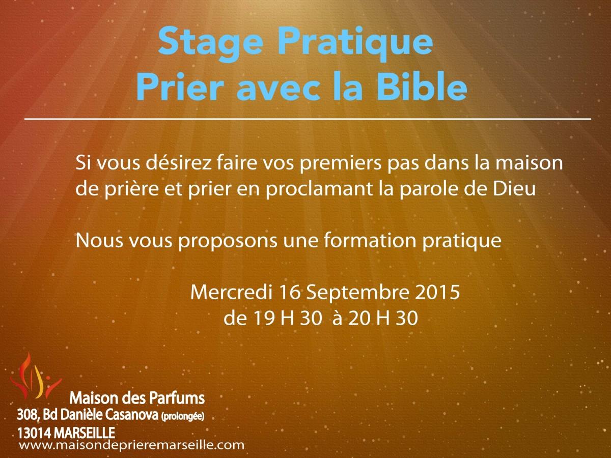 Formation pratique prier avec la bible